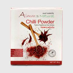 AIMM'S NATURAL CHILLI POWDER  58 G.