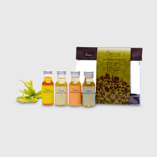 Satira Mini Set Thai Massage Oil 30 ml - Lemongrass, Ylang Ylang, Thai Plai, Anti-cellulite