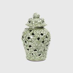 """VEERAYUT Celadon Jar 8"""" with Hole"""