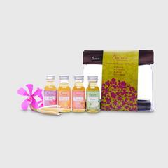 Satira Mini Set Legendary Flower Massage Oil 30 ml -Jasmine, Champaca, Orchid, Frangipani
