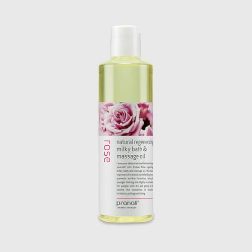 Pranali Rose Natural Hydrating Milky Bath&Massage Oil 250ml