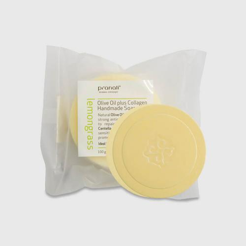 Pranali Olive Oil Plus Collagen Handmade Soap-Lemongrass 100g