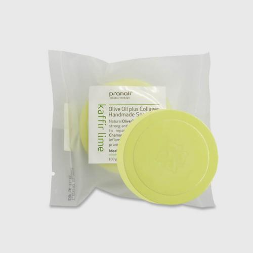 Pranali Olive Oil Plus Collagen Handmade Soap-Kaffir Lime 100g
