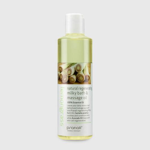 Pranali Lemongrass Natural Regenerating Milky Bath&Massage Oil 250ml