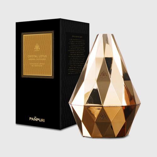 梵璞丽 (Pañpuri) 金色水晶蓮花形电动香薰炉 Gold