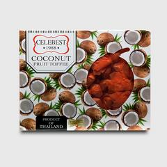 CELEBEST FRUIT TOFFEE - COCONUT 230 G.