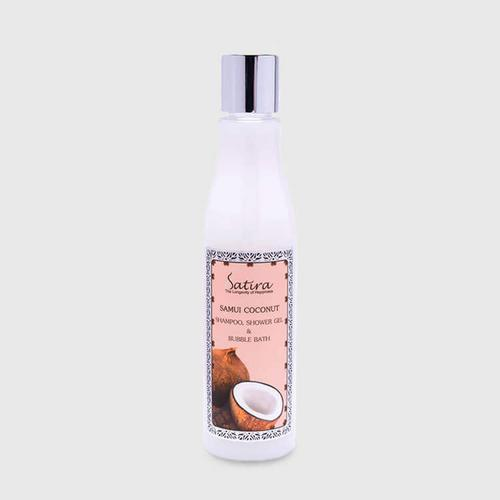 Satira Samui Coconut 3 in 1 Shampoo, Body Wash, Bubble Bath 240 ml