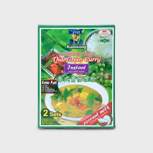 RAMWONG GREEN CURRY POWDER W/COCONUT MILK 55 G.*2