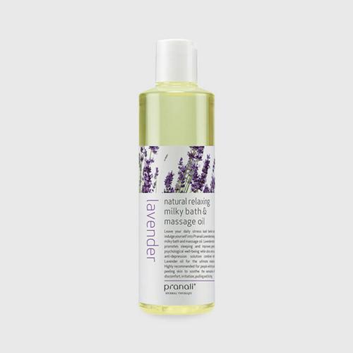 Pranali Lavender Natural Relaxing Milky Bath&Massage Oil 250 ml