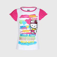 凯蒂猫 短袖连短裙 Hello Kitty T201 Flutter Sleeve Top (SIZE 3)