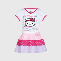凯蒂猫 Hello Kitty 连衣裙 V领 Girl Color block Dress V-Neck 尺寸 3