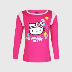 凯蒂猫 Hello Kitty 长袖  粉色Pink Long Sleeve Ruffle Tee 尺寸 3