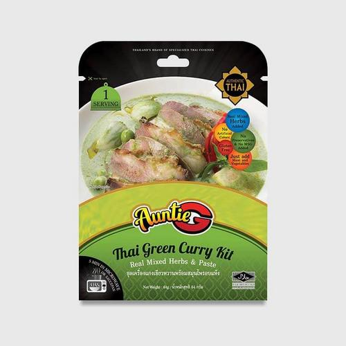 AUNTIE G THAI GREEN CURRY KIT 64G