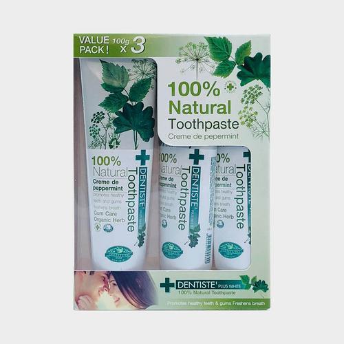 DENTISTE' 100% NATURAL TOOTHPASTE (100gx3)