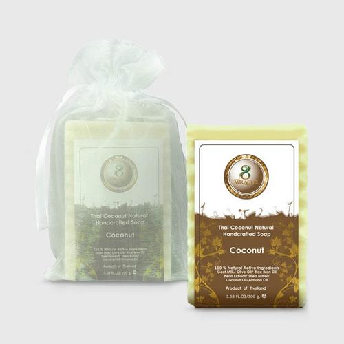 8 Miracles Thai Coconut Natural Handcrafted Soap 100 g.