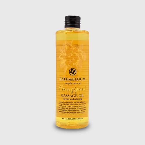 Bath & Bloom Frangipani Massage Oil 260ml