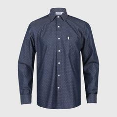 JOCKEY CASUAL-JKY2271A 休闲男士长袖衫 蓝色 中号
