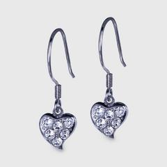 12VICTORYSparkling Heart Earrings