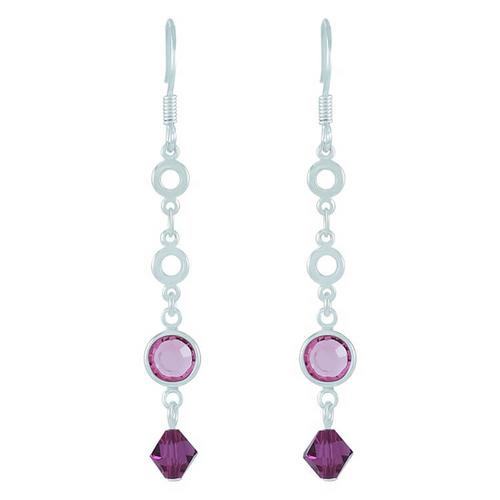 12VICTORY Fuchsia Bicone Earrings