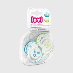 Lovi Dynamic soother silicone  6-18 months (2 pcs)  TRENDY