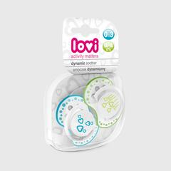 Lovi Dynamic soother silicone 0-3 months (2 pcs) BASIC