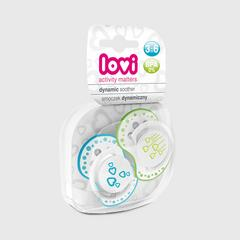 Lovi Dynamic soother silicone 3-6 months (2 pcs) BASIC