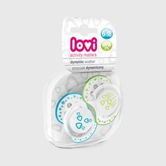 Lovi Dynamic soother silicone  6-18 months (2 pcs) BASIC