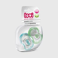 Lovi Dynamic soother silicone 0-3 months (2 pcs) SPARK