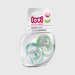 Lovi Dynamic soother silicone 6-18 months (2 pcs) SPARK