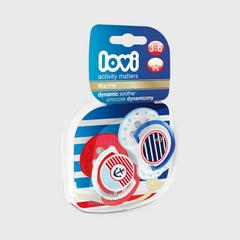 Lovi Dynamic soother silicone 3-6 months (2 pcs) Marine