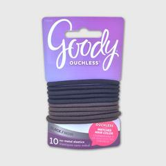 GOODY Womens Colour Collection 4MM Braided Elastics, Black, 10 CT