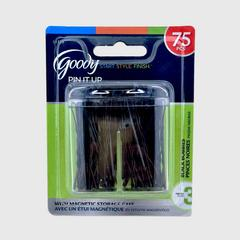 GOODY Bobby Pin Box with Magnetic Top Black, 75 CT