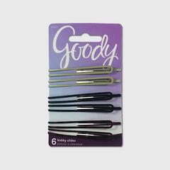 歌妮 GOODY 女士 经典系列 Metallic Long Round Bobby Slides 发夹 6件