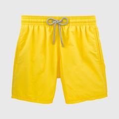 Vilebrequin Solid Daffodil 男士 沙滩泳裤  尺寸 S
