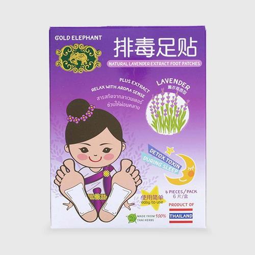 GOLD ELEPHANT 薰衣草香型排毒足贴(1盒6片装)