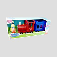 DISNEY Peppa Pig Miss Rabbit's Train & Carriage