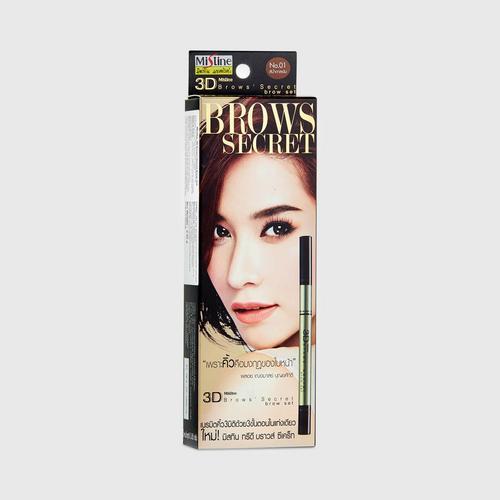 蜜丝婷(Mistine)3D立体神秘魅惑三合一眉笔 01 深棕色(Dark brown)