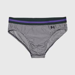 HOM 男士内裤 ARISTO MINI BRIEFS HO1 STRIPED 蓝色-白色/S