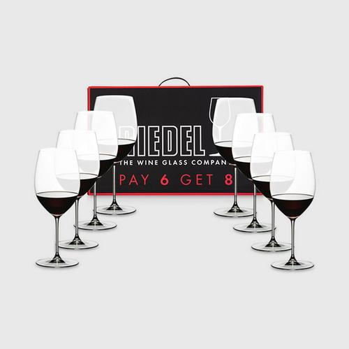 Riedel Value Pack : Veritas Pay 6 Get 8 Cabernet