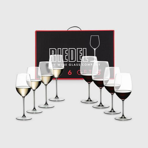 Riedel Value Pack : Veritas Pay 6 Get 8 Cabernet - Viogner/Chardonnay