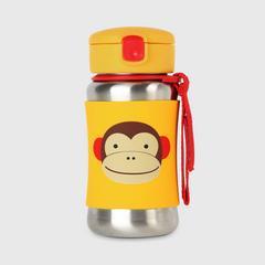 SKIP HOP 动物园不锈钢防滑吸管杯 小猴