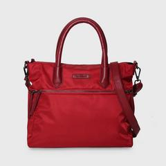 THEOREM POLY BOSTON HANDBAG RED COLOUR