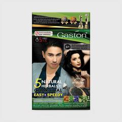 GASTON 速效染发洗发水(完美遮盖白发洗发水)-自然黑色-25毫升