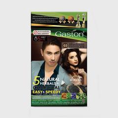 GASTON 速效染发洗发水(完美遮盖白发洗发水)-巧克力色-25毫升