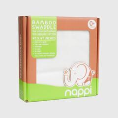 NAPPI BABY  用竹纖維包裹的蝦47寸-白色(包 1)