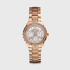 GUESS 女士手表 Rose Gold Bracelet with White dial