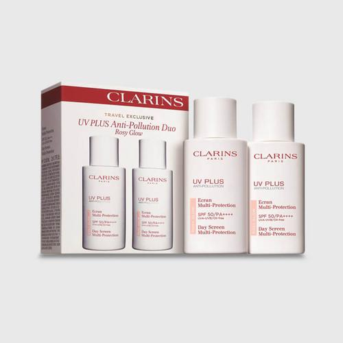 Clarins Travel Exclusive UV Plus HP Anti-Pollution Rosy Glow SPF 50/PA++++ 50ml - Pink Duo