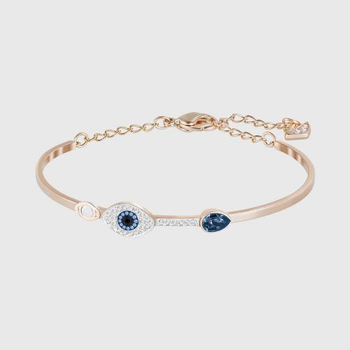SWAROVSKI Duo Evil Eye Bangle Mixed Plating 蓝色