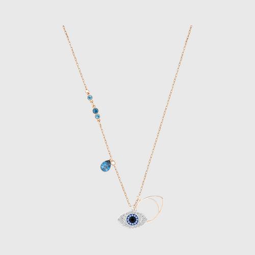 施华洛世奇 SWAROVSKI SYMBOLIC EVIL EYE 链坠, 蓝色, 多种金属润饰 颜色: 蓝色 长度: 38 厘米 链坠: 2x1.5 厘米