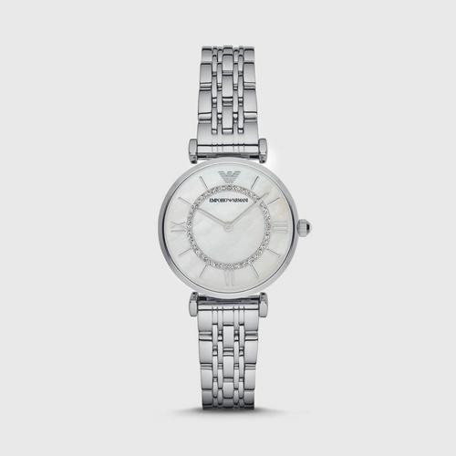 Emporio Armani Women's Retro Silver Watch 32mm